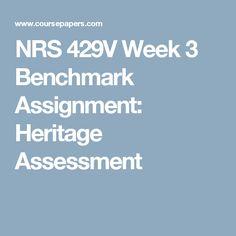 heritage assessment paper Heritage assessment paper heritage assessment paper grand canyon university nrs-429v wodajo tegegn date: feb 8, 2015 instructor: renita holmes 1 heritage assessment.
