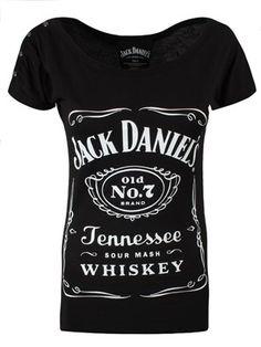 Jack Daniels Classic Logo Ladies Black T-Shirt