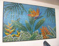 Vitreous Glass Tile Mosaic Art Piece by XclusiveDesigns on Etsy, $5000.00