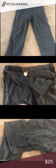 Patagonia Nylon Pants Bought these on here but they were too small for me. %100 Nylon pants, with side zipper, back pockets, and adjustable waist. Versatile slate gray/blue color. Perfect for adventuring or just getting errands done. Please ask any questions! Patagonia Pants