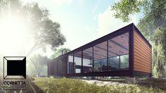 Projeto para loft pré-fabricado em componenetes metálicos #architecture #arquitetura #loft #prefab #casadecampo #steel