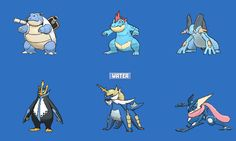 Water Starter Final Evolutions