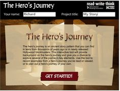 AP LANG- The Hero's Journey - A Lesson in Writing Myths--takes students through the elements of myth writing. designed for but can easily be adapted for middle school. Has lesson plans on the site Teaching Writing, In Writing, Teaching Resources, Teaching Ideas, Writing Resources, Writing Tips, Education English, Teaching English, English Resources