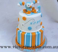 Giggle And Hoot Birthday Cake 1st Birthday Cakes, Birthday Ideas, Cake Designs, First Birthdays, Christening Cakes, Desserts, Facebook, Kids, Cake Ideas