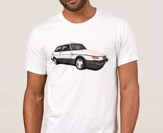 Facelifted version of Saab 900 Turbo Aero Coupé printed on on T-shirts, coffee mugs and many other gifts. Saab 900 Turbo, Classic Cars, Mens Tops, T Shirt, Fashion, Moda, Tee Shirt, Fashion Styles, Vintage Classic Cars