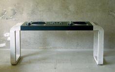 Concrete DJ Desk, 2006 (Concrete, Steel & Linoleum)