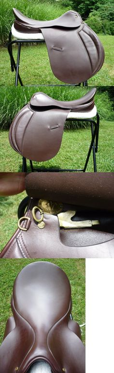 Saddles 47281: New 20 Mw Ashley And Clarke Stoneleigh English Saddle Brown Ap Jump England -> BUY IT NOW ONLY: $349 on eBay!