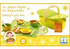 schattig houten madeliefjes picnic setje DJECO | kinderen-shop Kleine Zebra