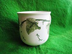 Rorstrand Sweden Cup Mug DIAMANT Artist Jaqueline Lynd white green