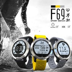 Bluetooth Smart Watch Heart Rate Monitor Smartwatch F69 Sport Swimming Waterproof  Pulsometer Watch For Apple iPhone Android #Affiliate