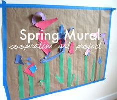 Spring Mural - would be fun to put up in the playroom!!  Could add all kinds of things each day: flowers, bees, butterflies, etc.