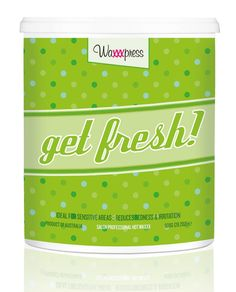 Waxxxpress. Feeling a little stale? It's time to freshen up! My invigorating sweet mint aroma is a breath of fresh air, perfect for putting that spring back in your salon. I contain Titanium Dioxide to reduce post-wax redness and irritation. Make your clients feel like new again with my gentle, creamy formula, ideal for getting sensitive and delicate areas shipshape!  Use me when you are waxing delicate areas. Best for waxing the face, underarms & XXX waxing.