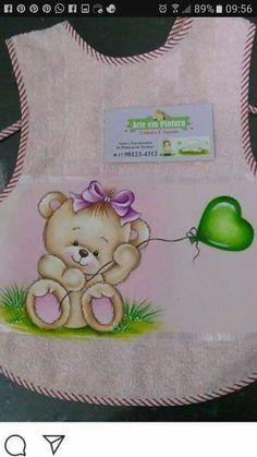 Ursinha bebe Baby Painting, Cartoon Painting, Love Painting, Fabric Painting, Teddy Bear Drawing, Baby Drawing, Cute Teddy Bears, Tatty Teddy, Beginner Painting