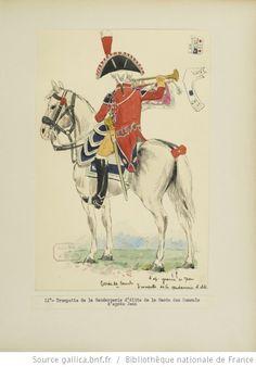 [Grenadiers-gendarmes, gendarmerie d'élite de la garde des consuls et de la garde impériale, 1793-1815 / Notes et aquarelles par E. Fort.] - 25