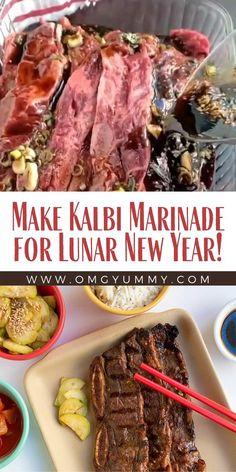 Beef Ribs Marinade, Korean Beef Marinade, Kalbi Marinade, Kalbi Ribs, Flanken Short Ribs Recipe, Flanken Ribs, Rib Recipes, Spicy Recipes, Steak Recipes
