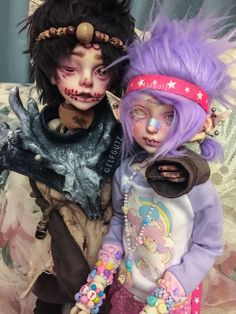 """These two are from different worlds but that doesn't mean they can't be friends#bjd"" by: Elfgutz"