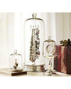 Glass Cloche Jewelry Storage
