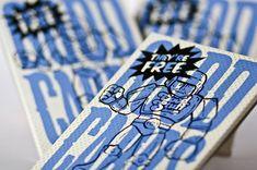 pop art business cards