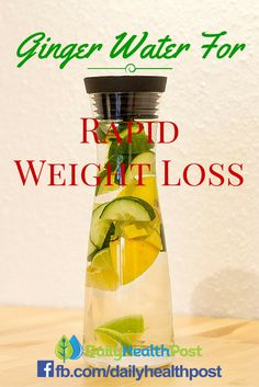 Ginger Water For Rapid Weight Loss – The Healthiest Drink That Melts Fat!Here are the 4 ways that ginger can help you lose weight...