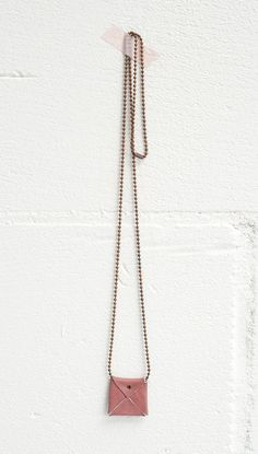 New leather ballchain necklace Tus / color pale pink / handmade with love to last  www.jeebags.com