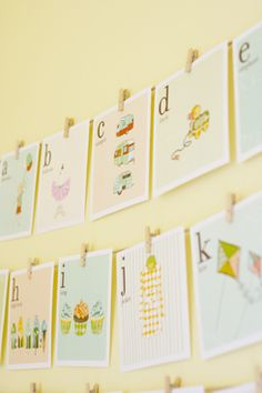 These vintage-style alphabet cards are not only printable, they're FREE! Print out the entire alphabet for a baby's nursery or a shower banner, or just the name of the impending arrival!