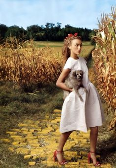Wizard of Oz Vogue photoshoot with Keira Knightley by Annie Leibovitz