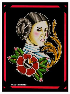 Princess Leia painting web by Myke Chambers Tattoos, via Flickr