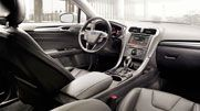 The 2014 Ford Fusion Titanium shown with Charcoal Black interior trim. Ford Interior, Interior Photo, Interior Trim, 2013 Ford Fusion, Eco Friendly Cars, Van Car, Ford News, Fancy Cars, Cars