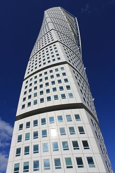 Architect Santiago Calatrava: HSB Turning Torso, Malmö, Sweden. Completed 2006.