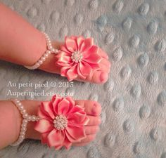 Baby barefoot sandals,toddler barefoot sandals, baby shower gift, baptism gift, christening gift, baby girl gift,flower girl by Aupetitpied on Etsy https://www.etsy.com/listing/237612162/baby-barefoot-sandalstoddler-barefoot