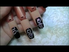 Nail Art For Beginners:  Cute Robots in Love