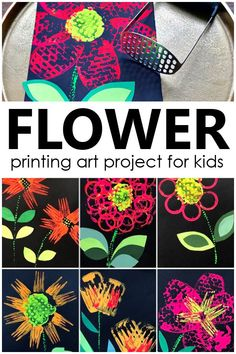 Preschool Art Projects, Cool Art Projects, Art Activities, Projects For Kids, Flower Art, Flower Crafts, Plant Bugs, Spring Theme, Plant Art