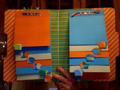 File Folder scrapbook, inside by loriwil - Cards and Paper Crafts at Splitcoaststampers