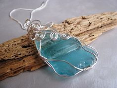 Statement Mothers Day Pendant Beach Glass Pendant by seaglassin