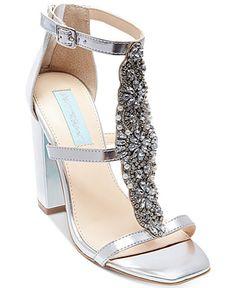 ed8f6b9e8333cb Blue by Betsey Johnson Lydia Sandals Shoes - Sandals   Flip Flops - Macy s