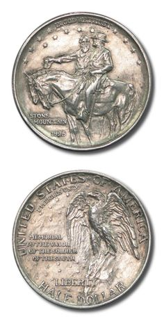 United States - Stone Mountain Commemorative - Half Dollar - 1925 - EF Details - Cleaned | Black Mountain Coin | Black Mountain, NC Stone Mountain, Black Mountain, Buy Coins, Valuable Coins, Gold And Silver Coins, Coin Values, Commemorative Coins, Rare Coins, Half Dollar