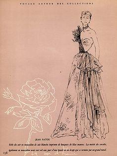 1948 Jean Patou, Evening Gown