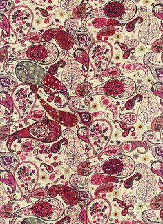 Liberty of London tana lawn Fabric Mark in red 6 x 26 por MissElany