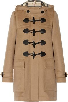 wool duffle coat / burberry