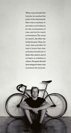 //When man invented the bicycle #bikes #cycling