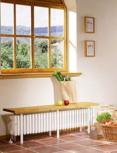 Zehnder – Systems for heating, cooling and ventilation! Radiator Cover, Natural Homes, Attic Conversion, New Room, Porch Swing, Cozy House, Sweet Home, Bench, New Homes