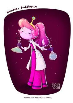 Princess Bubblegum Fan Art 2013, Rocío García (Rochi) ART