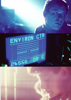 """fleshcoatedtechnology: """" 990000: """" Blade Runner (1982) Cinematography: Jordan Cronenweth """" i've seen things you people wouldn't believe. attack ships on fire off the shoulder of orion. i watched..."""