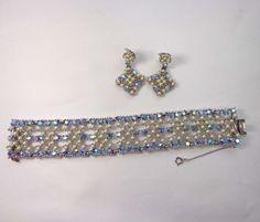 Bogoff Bracelet Earring Set Vintage Designer by JellyBellyJewels