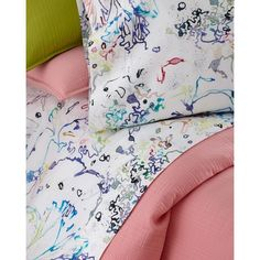 Pine Cone Hill Twin Graffiti Sheet Set ($194) ❤ liked on Polyvore featuring home, bed & bath, bedding, bed sheets, multi colors, cotton pillowcases, twin bed sheet sets, queen bed sheet set, pine cone hill bedding and queen pillowcases