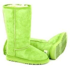 lime green uggs, oh man.