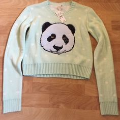 Panda sweater Panda sweater from LA hearts. Size medium but fits a small too. It's a light green/minty shade. Super soft and cute. Bought from pacsun. LA Hearts Sweaters Crew & Scoop Necks