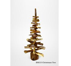 This stunning Large Reclaimed Teak Christmas Tree festive Ornament is perfect for indoor or outdoor use. These tree's are a great way to bring christmas feel to your living space. The Large Reclaimed teak leaves are connected with pole in the middle which makes this natural wooden christmas tree sculputre really strong and durable. Finish in natural color to add the winter feel in your home.
