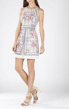 Cambria Printed Halter Dress