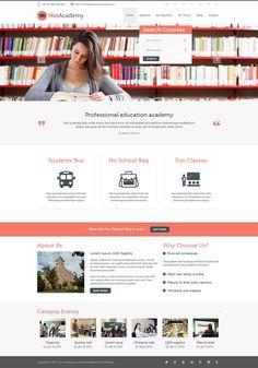 Hot Academy - Responsive #Joomla Education Template for Schools